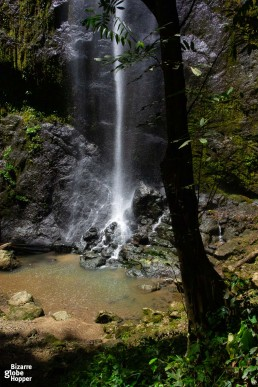 Waterfall inside primary rainforest in Danum Valley, Borneo