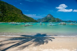 White sand beaches greet honeymooners in Palawan's El Nido, Philippines