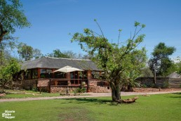 The restaurant and lounge bar of Baluleni Safari Lodge in Balule Nature Reserve, South Africa
