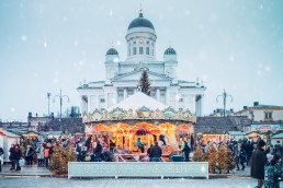 Helsinki Christmas Market is the biggest outdoors Christmas Market in Helsinki, Finland. Photo courtesy of Helsinki Christmas Market/Photographer: Jussi Hellsten