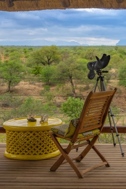 Wildlife viewing deck in Sausage Tree Safari Camp, Greater Kruger National Park